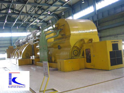 View of 500 MW steam turbine Unit 6, Kapar