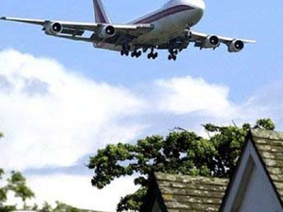 Aircraft noise is an example of environmental noise concern in residential and hotels development.