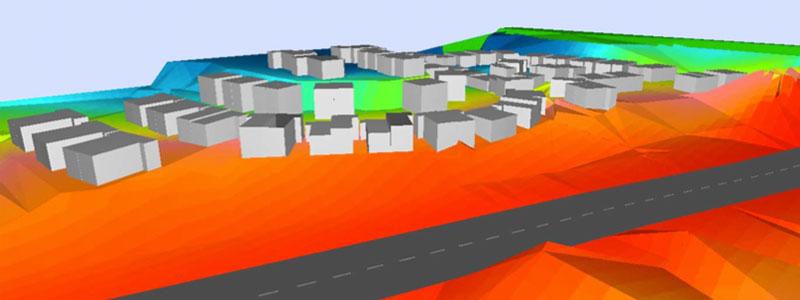 3D noise modeling to assess impact of Penchala Link on proposed high end residential development adjacent highway (Serene Kiara)