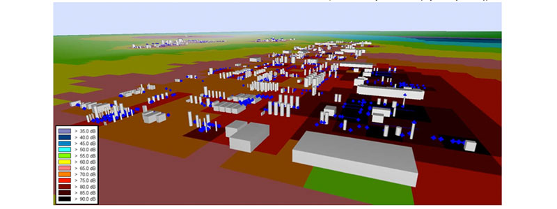 View of 3D model representing petrochemical plants (Plants not identified here due to project's confidentiality)