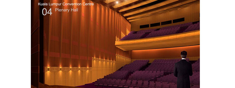 Artist impression (developed during Project design stage) of Kuala Lumpur Convention Centre Plenary Hall